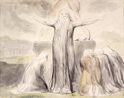 Job's Sacrifice: And my servant Job shall pray for you by William Blake - print