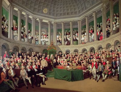 The Irish House of Commons, 1780 by Francis Wheatley - print