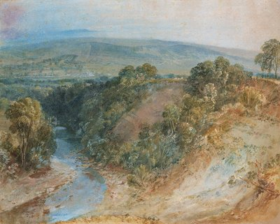 Valley of the Washburn, 1818 by Joseph Mallord William Turner - print