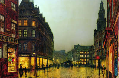 Fine Art Print of Boar Lane, Leeds, 1881 by John Atkinson Grimshaw