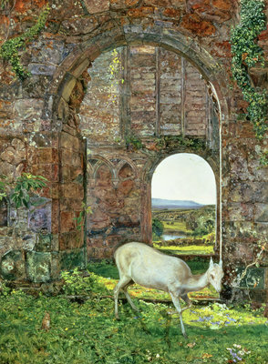 The White Doe of Rylstone, 1855 by John William Inchbold - print