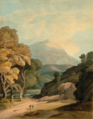 Fine Art Print of Near Maentwrog, North Wales by Francis Towne