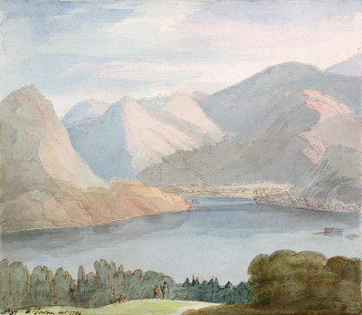 Ullswater from Gowbarrow Park, 1786 by Francis Towne - print