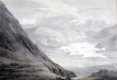 Derwentwater from Skiddaw by Thomas Hearne - print