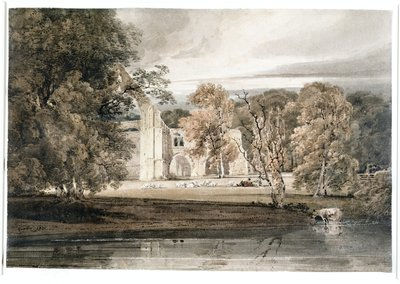 Bolton Abbey, 1800 by Thomas Girtin - print