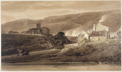 Ilkley, Yorkshire, 1801 by Thomas Girtin - print