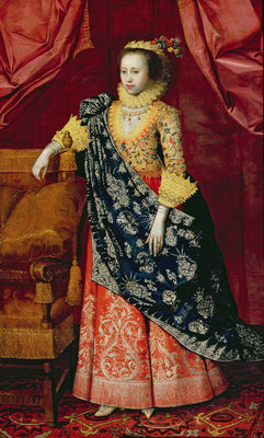 Portrait of a Lady, here called Arabella Stuart by Marcus Gheeraerts - print