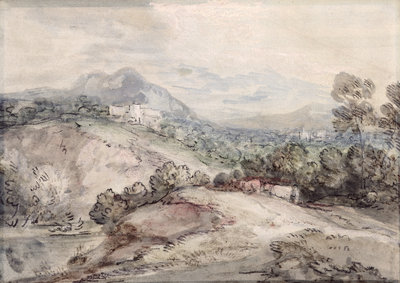 A Hilly Landscape, 1785 by Thomas Gainsborough - print