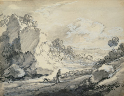 A Shepherd and his Flock, 1775 by Thomas Gainsborough - print