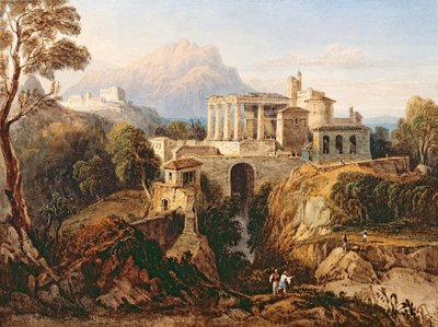 A Grecian Temple by William Crouch - print