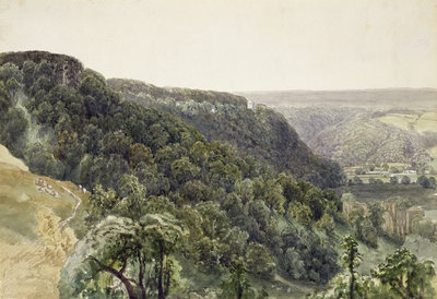 Rievaulx Abbey from the West by William Henry Bartlett - print