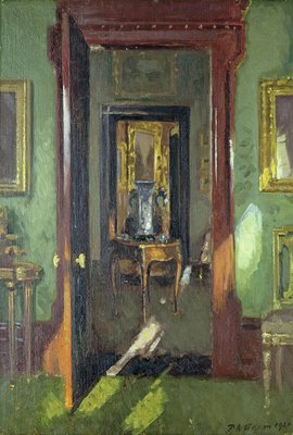 Interior, Rutland Lodge: vista through open doors, 1920 by Patrick William Adam - print