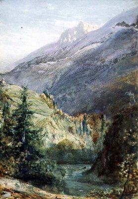 On the Road of Sepey, Switzerland by John William Inchbold - print