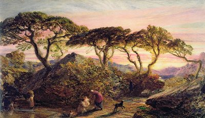 Sunset by Samuel Palmer - print