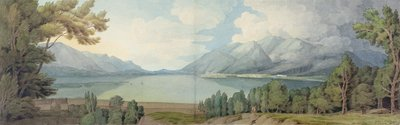 Derwentwater from the South, 1786 by Francis Towne - print
