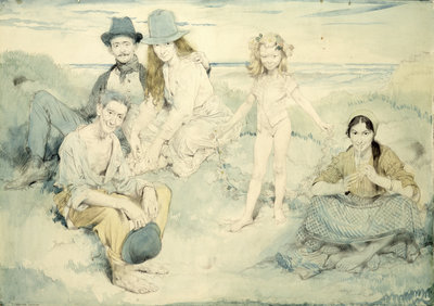 On the Irish Shore, 1910 by Sir William Orpen - print