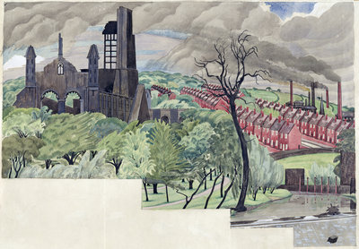 Millworkers Landscape, c.1920 by John Northcote Nash - print