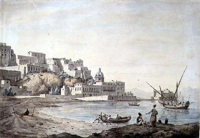 Borgo di Chiaia, Naples, c.1767 by William Marlow - print
