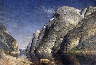 The Sognefjord, Norway, c.1885 by Adelsteen Normann - print