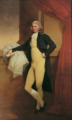 Portrait of Samuel Oldknow, c.1790-2 Poster Art Print by Joseph Wright of Derby