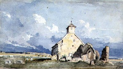 Hove Church, 1824 by John Varley - print