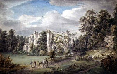 Roche Abbey, Yorkshire by Paul Sandby - print