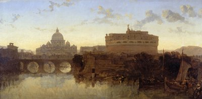 Rome, St Peter's and the Castel St. Angelo by David Roberts - print