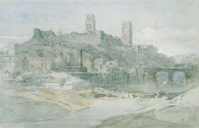 Durham, 1836 by David Roberts - print