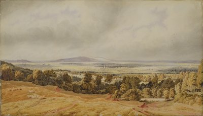View of Broadway Hill, Worcester by William Turner - print