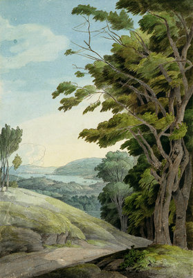 View from Rydal Park by Francis Towne - print