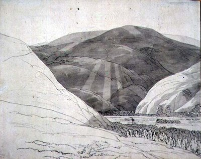 Croidon Hill, 1785 by Francis Towne - print