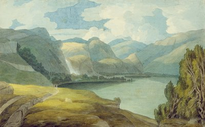 Fine Art Print of Derwentwater Looking South, 1786 by Francis Towne