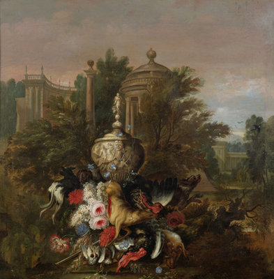 Dead Game and Flowers, 1708 Poster Art Print by Pieter Casteels