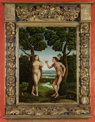 Adam and Eve by Jan van Scorel - print