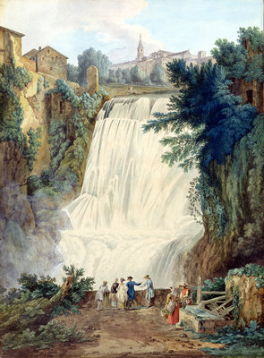 The Falls at Tivoli, 1770 by Jacob-Philippe Hackert - print