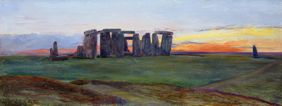 Stonehenge, 1872 by John William Inchbold - print