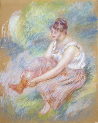 After the Bath, c.1890 by Pierre Auguste Renoir - print