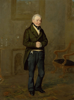 Portrait of a Household Steward of Bramham Park, Yorkshire, identified as John Pollock by George Garrard - print