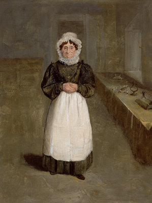 Portrait of a Housekeeper at Bramham Park, Yorkshire, identified as Mrs Brown, c.1822 by George Garrard - print