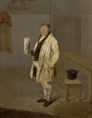 Portrait of a Coachman from Bramham Park, Yorkshire, identified as William Fox, c.1822 by George Garrard - print
