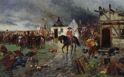 Wallenstein: A Scene of the Thirty Years War by Ernest Crofts - print