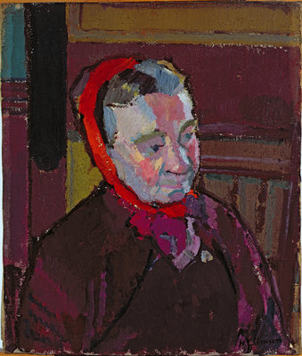 Portrait of Mrs Mounter, 1916-17 by Harold Gilman - print