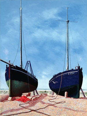 Whitstable Oystermen, 1948 by Tristram Paul Hillier - print