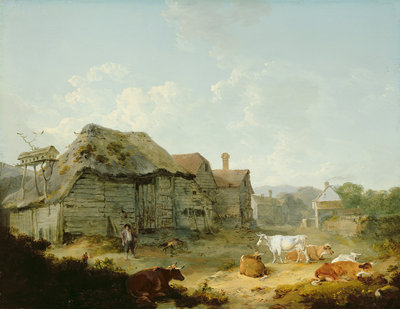A Farmyard in Kent, 1793 by Julius Caesar Ibbetson - print