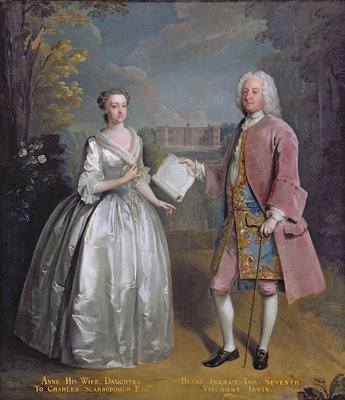 Portrait of Henry 7th Viscount Irwin and his Wife Anne by Philippe Mercier - print