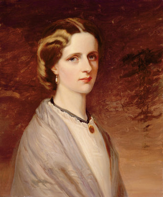 Portrait of Emily, Mrs Meynell Ingram by H. Taylor - print