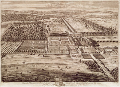 Prospect of Temple Newsam House from the East, engraved by Jan Kip by Leonard Knyff - print