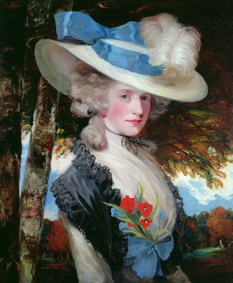 Portrait of The Hon. Mrs Hugo Meynell by John Hoppner - print
