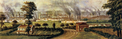 Leeds from Rope Hill, c.1840 by Alphonse Douseau - print