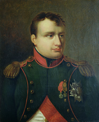 Portrait of Napoleon I by French School - print
